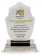 The best forex execution house award 2013